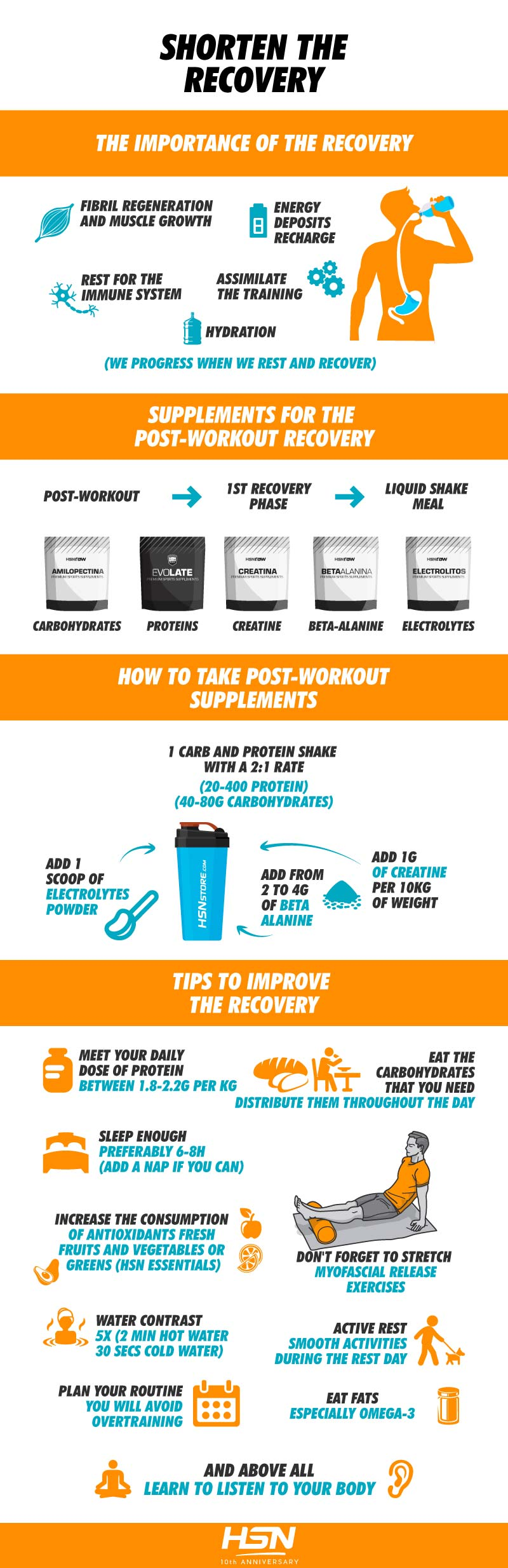 Tips to improve the recovery